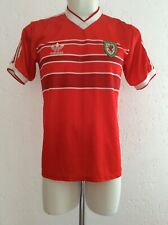 Jersey Wales National Team Home Shirt Seasons 1984-1987 Adidas Authentic