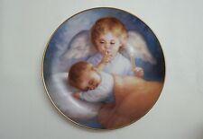 Hush-A-Bye Heavenly Angels Decorative Porcelan Plate W 23 Karat Gold Trim!