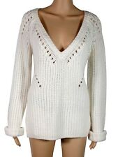 Calypso St. Barth Callani Knit Sweater Pullover Ivory Large NWoT 100% Wool $225