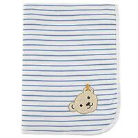 Jerseydecke Babydecke Decke Kuscheldecke Steiff Bär blau geringelt 90 x 60 cm