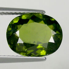 4.49 cts SUPERB - LUSTROUS  OLIVE GREEN  NATURAL IDOCRASE _ OVAL # 2568