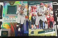 2020 Panini Illusions/Prestige Jalen Hurts Great Expectations Relic Patch/RC Lot