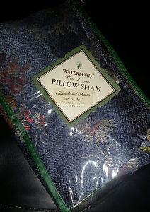 Waterford Celbridge Blue/Apricot/Almond Queen Ruffle Bedskirt Standard Sham NWT