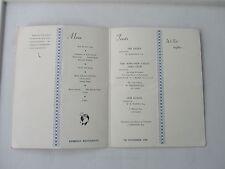 1958   ROWLANDS CASTLE GOLF CLUB DINNER DANCE MENU KIMBELLS RESTAURANT