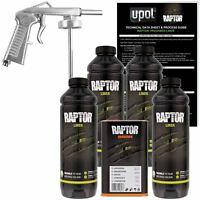 U-POL Raptor Black Urethane Spray-On Truck Bed Liner Kit w/Spray Gun, 4 Liter