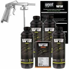 U-POL Raptor Tintable Urethane Spray-On Truck Bed Liner Kit w/Spray Gun, 4 Liter