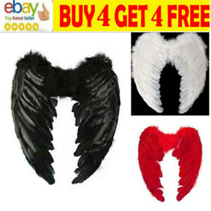 Feather Angel Wings Christmas Halloween Fancy Dress Costume Hen Night Party DH