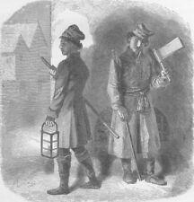 POLAND. Polish watchmen 1894 old antique vintage print picture