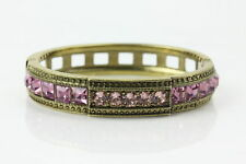 """Heidi Daus """"Tantalizing"""" Pink Faux Pearl Crystal-Accented Bracelet Size 7"""