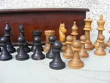 "ANTIQUE STAUNTON  CHESS SET 4"" INCH"