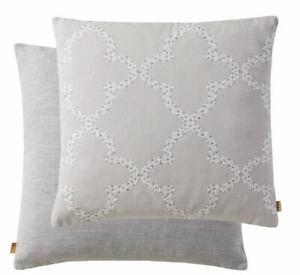 "KAI Silver 20"" Feather Filled Cushion"