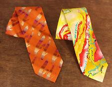 Set of 2 J. Garcia Anniversary Pen & Ink Collections Limited 39 Neckties Tie