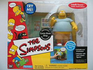 Playmates Toys Simpsons Comic Book Shop Interactive Environment Comic Book Guy