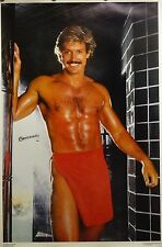 Chippendales 23x35 Red Towel Male Model Poster 1986