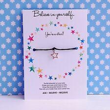 Believe In Yourself - Star Charm - Wish/Friendship Bracelet - Motivational Gift