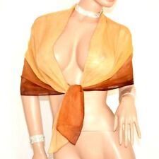 ETOLE femme élégante nuances or marron foulard écharpe voilé châle cérémonie 720