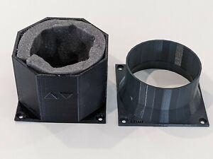 ASIC Max Airflow Sound Foam + heat management 4 inch fan shrouds (2 pieces)