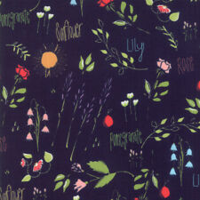 "MODA FABRIC ""THE FRONT PORCH""  NAVY   37540 17  QUILTING SEWING 100% COTTON"