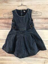fe62109ed9 Baby Gap Girls Blue Dress Size 2 Years Long Denim Sleeveless Zipper Back  LBB76
