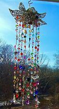 FLOWER SUNCATCHER-ANGEL,HEARTS,STARS,CAT-CRYSTAL-HANDCRAFTED-3 DIMENSIONAL # 920