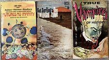 3 Horror/Science-Fiction Anthology Paperbacks! True Vampires! Twilight Zone!