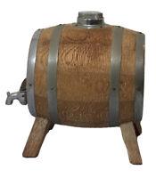 Vintage Ryecroft Woodware Wooden Miniature Whiskey Cask/Barrel Keg w. Metal Tap