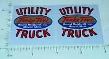 Tonka Cabover Utility Truck Red Sticker Set        TK-132
