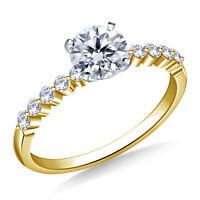 Bridal 0.68 Ct Round Cut Diamond Wedding Ring 18K Real Yellow Gold Ring Size J K