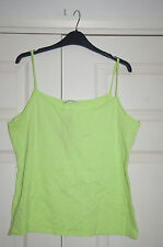 NEW Sz 20 Lime Green Cotton Stretch Vest Top Holiday Summer Cool
