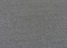 Jogging Melange Hilco grau Sweatshirt uni meliert 25 cm Sweatshirtstoff nähen