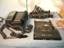 Vintage Mitsubishi Model 1500 Cellular Telephone USED  + Mounting Stand & Case