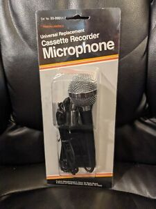 NEW Realistic 33-2001A Universal Replacement Cassette Recorder Microphone
