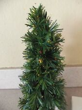 Fiber Optic Christmas Tree 9 Inch Shimmering Spruce Multi Color!  LEMAX!  1999