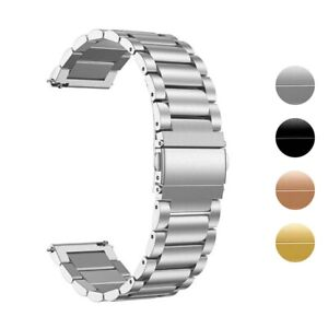 StrapsCo 22mm Replacement Stainless Steel Smart Watch Bracelet Band