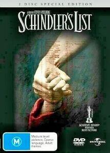 DVD SCHINDLER'S LIST 2 DISC SPECIAL EDITION  BEN KINGSLEY BRAND NEW UNSEALED