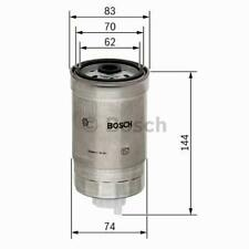Filtro de combustible Bosch 1457434516 HYUNDAI