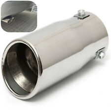 Chrome Oval 58mm Inlet Exhaust Tip Stainless Car Muffler Tail Pipe Universal