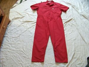 Men's Dickies Short Sleeve Red Coveralls - 46R