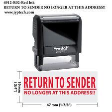 Return to Sender NO Longer at This Address!!-Trodat 4912 Self Inking Stamp