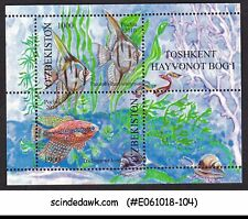 UZBEKISTAN - 2010 AQUARIUM FISH - MINIATURE SHEET MNH