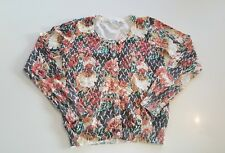 Valleygirl Size 10 Floral Grandma Cardigan Jumper Top Women's Buttons Jacket