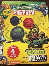 Crayola Melt 'N Mold Factory Teenage Mutant Ninja Turtles w 12 Bunga Colors