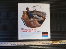 1963 Oldsmobile Dealership Sales Sports Car Brochure Cutlass Starfire Jetfire 63