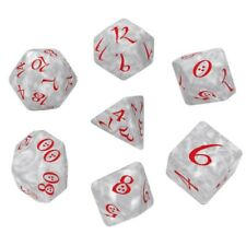 Q-workshop 7 Dice Set of Pearl & Red Classic SCLE86