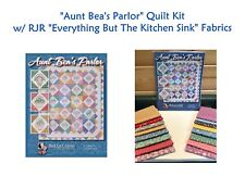 "NEW! AUNT BEA'S PARLOR Quilt Kit w/ RJR ""EVERYTHING BUT THE KITCHEN SINK"" Fabric"