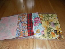 Vtg Gift Wrapping Paper Current LINDA K POWELL Butterflies NIP Lot Teddy Bears