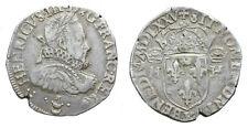 HENRI III, Teston au col fraisé 1575 Bordeaux (sans le titre de roi de Pologne)