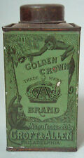 HTF GOLDEN CROWN / SAN BLAS COCOANUT ADVERTISING TIN GREEN COLOR MONKEY EXCEL
