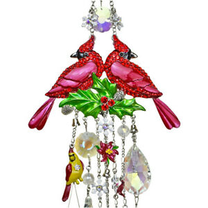 Kirks Folly Cardinal Memories Wind Chime With Removeable Snowflake Shimmer st