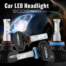 H11 9005 LED 100W 16000LM Combo Headlight Kit High Low Beam All-in-One Bulbs Hot